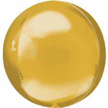 "Gold Orbz Balloon (15"") 1pc"